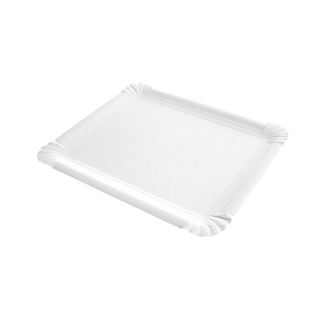 Bandeja rectangular cartón blanco 3