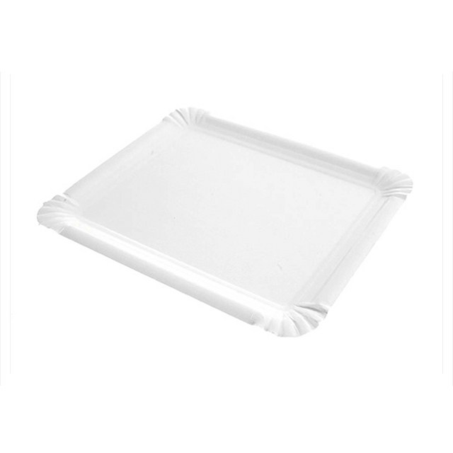Bandeja rectangular cartón blanco 4
