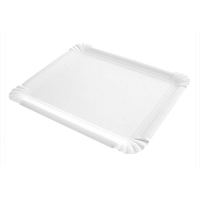 Bandeja rectangular cartón blanco 5