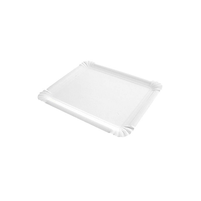 Bandeja rectangular cartón blanco 1