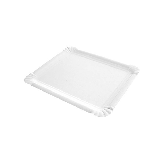Bandeja rectangular cartón blanco 2